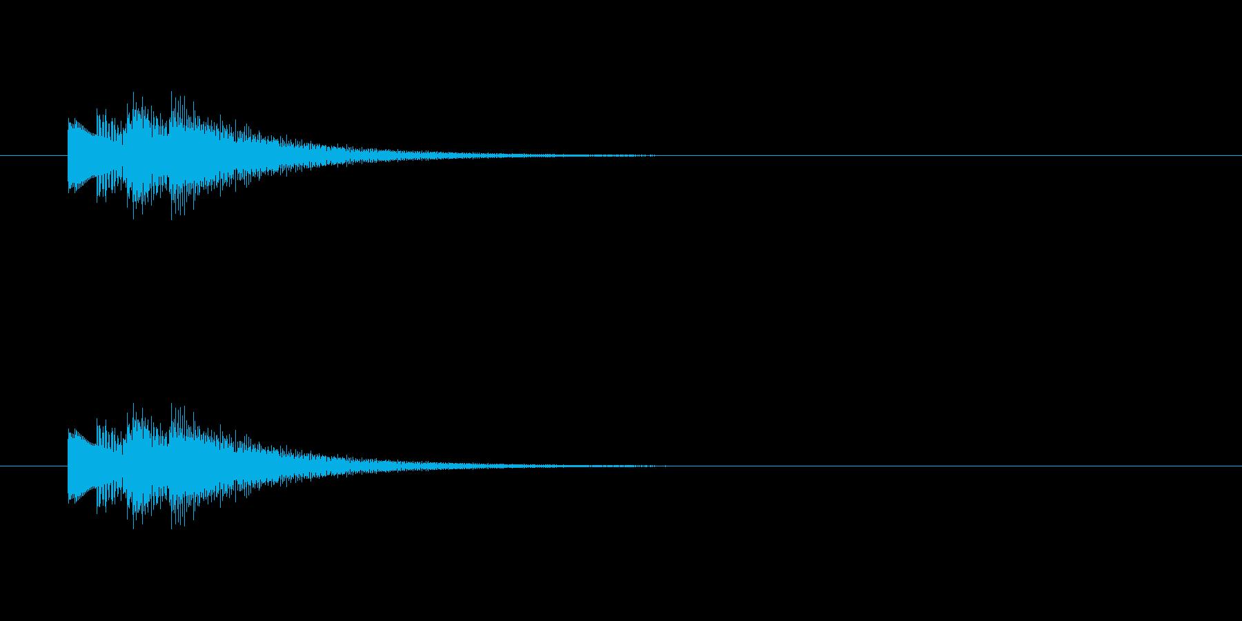 決定音 タッチ音 ベル系音色 音域高めの再生済みの波形