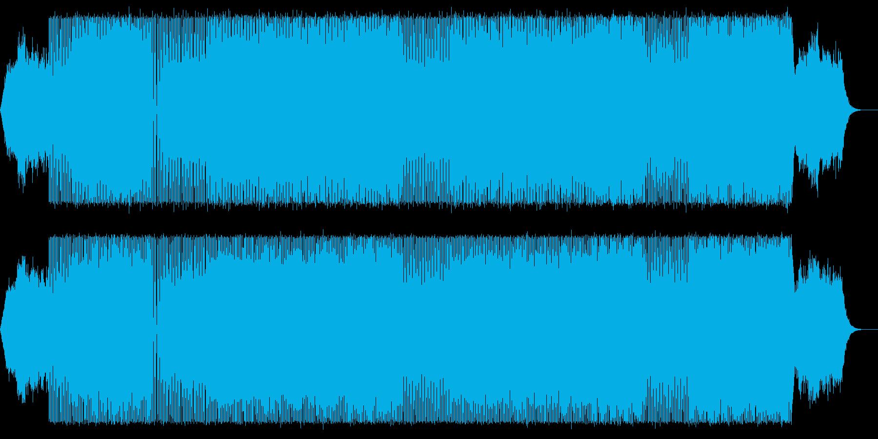 存在感有る低音、BGMに使いやすい中音域の再生済みの波形