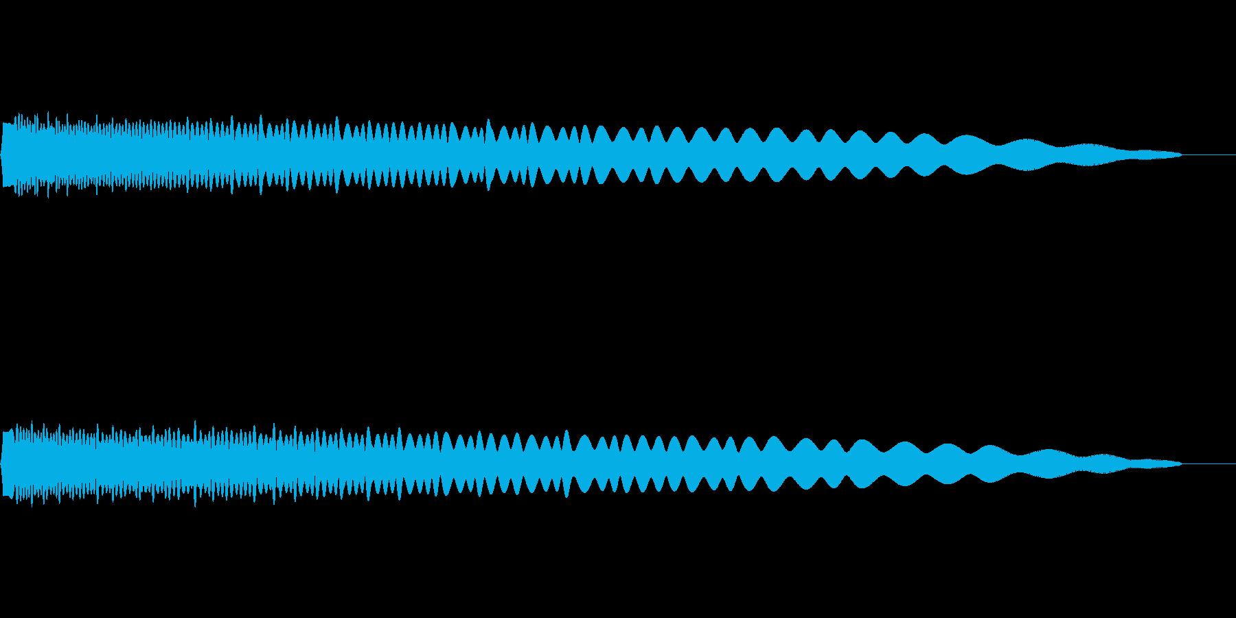 落下・物を投げる音の再生済みの波形