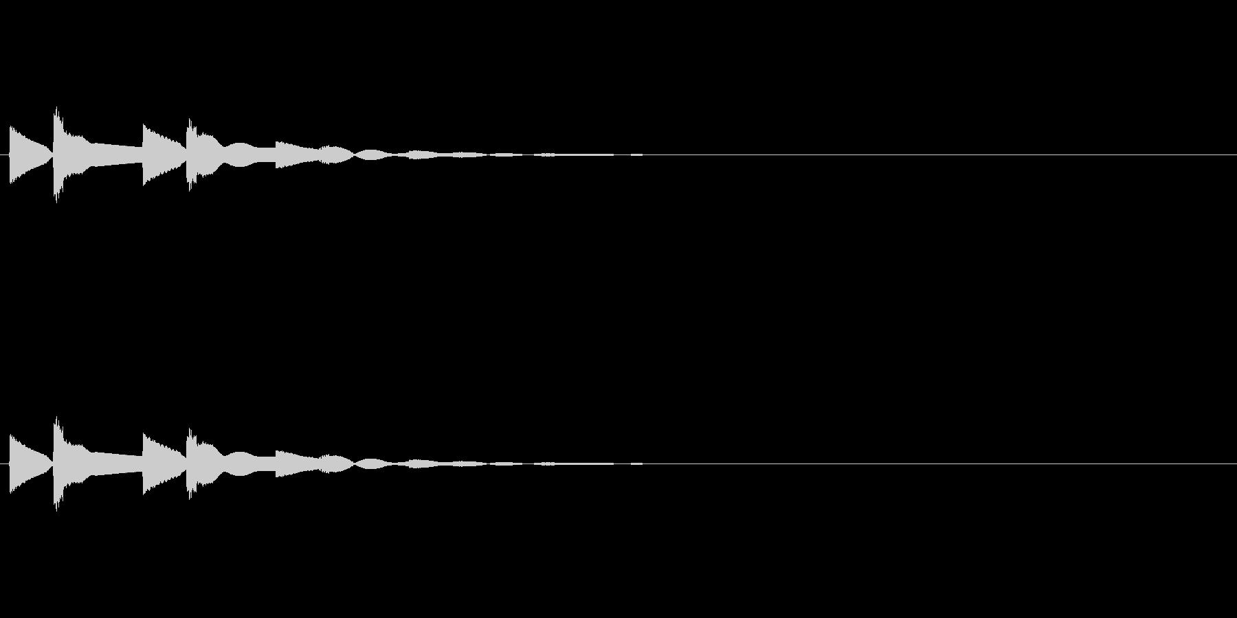 【ひらめき02-3】の未再生の波形