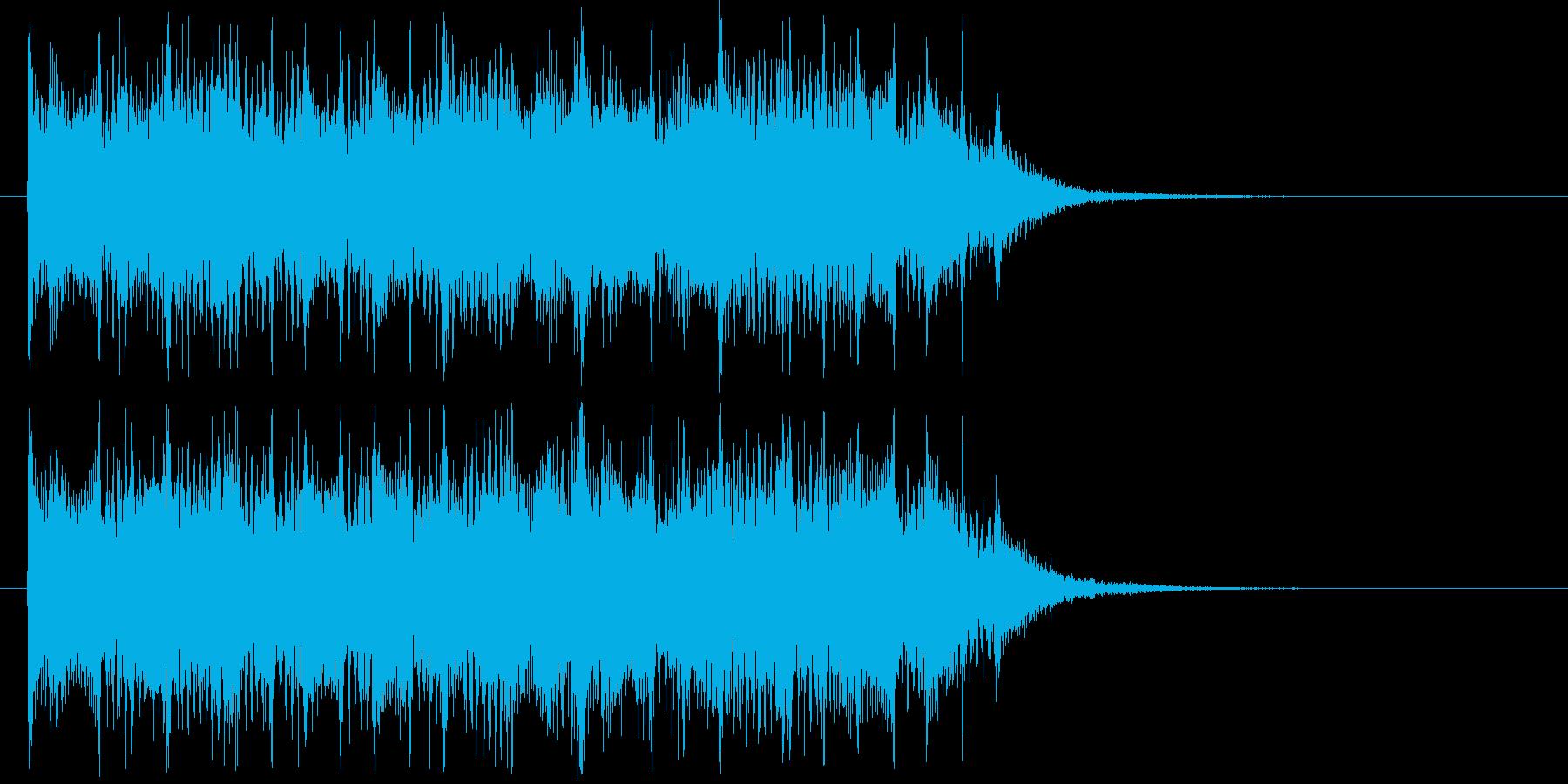 リズム感のあるハードロックの再生済みの波形