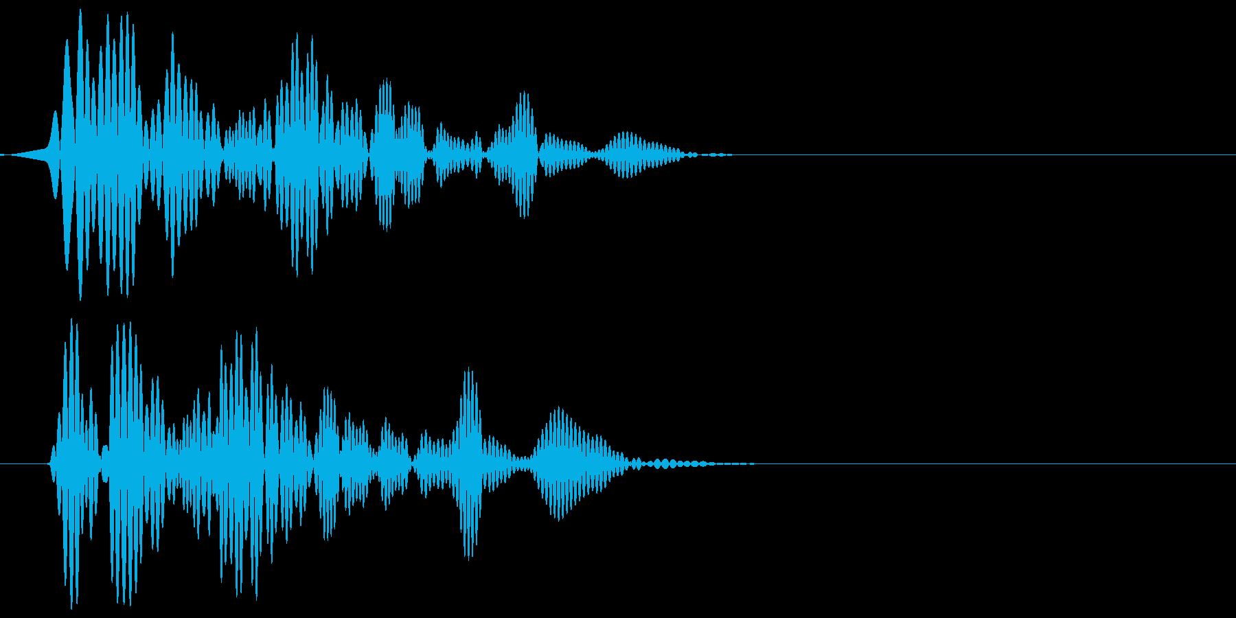 ワンッ(犬の鳴き声)アップの再生済みの波形