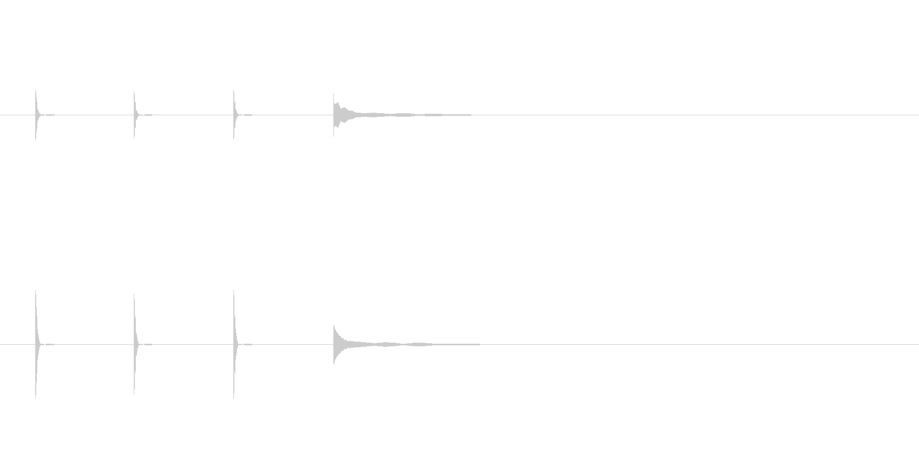 ポクポクポクチーン(テンポ遅め)の未再生の波形