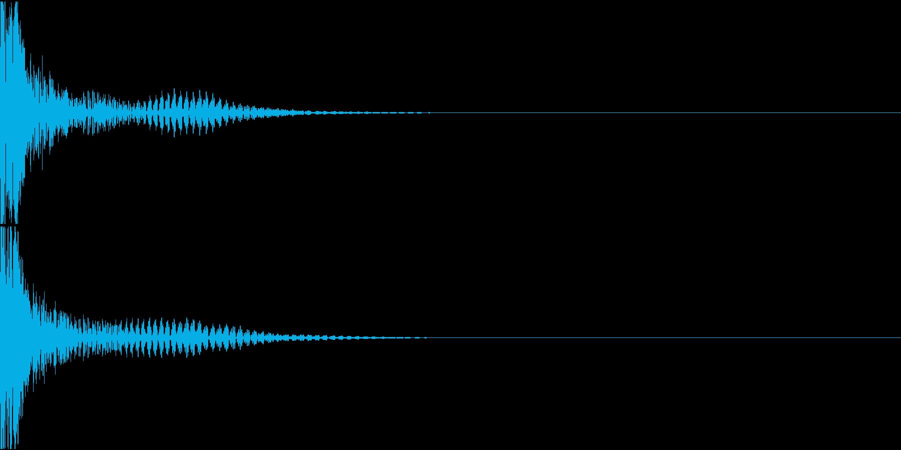 BASIC BEAM RIFLE 銃撃音の再生済みの波形