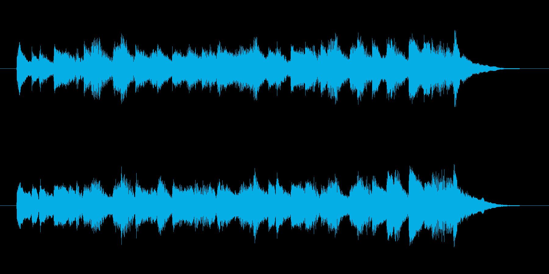 軽やかで爽やかなシンセピアノサウンド短めの再生済みの波形