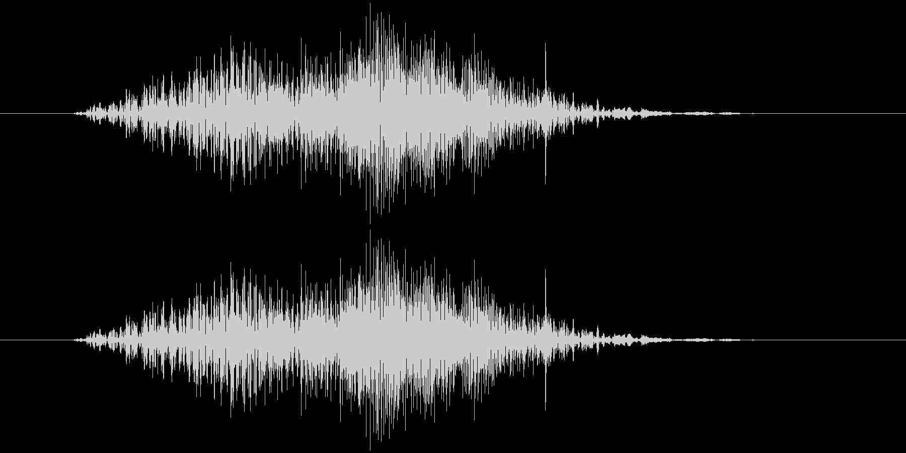 ファスナー(ショート、速め)の未再生の波形
