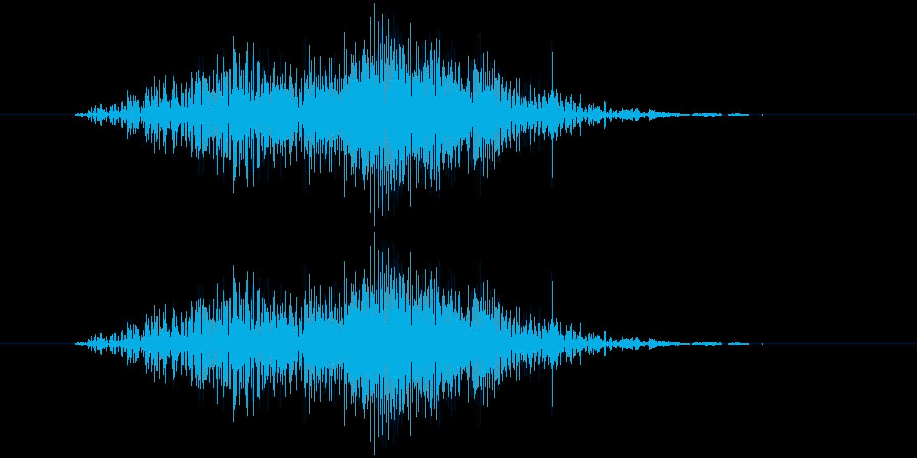 ファスナー(ショート、速め)の再生済みの波形