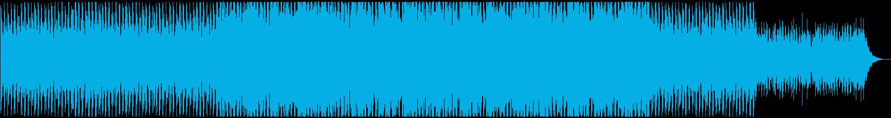 爽やかに空を飛ぶようなデジタルポップの再生済みの波形