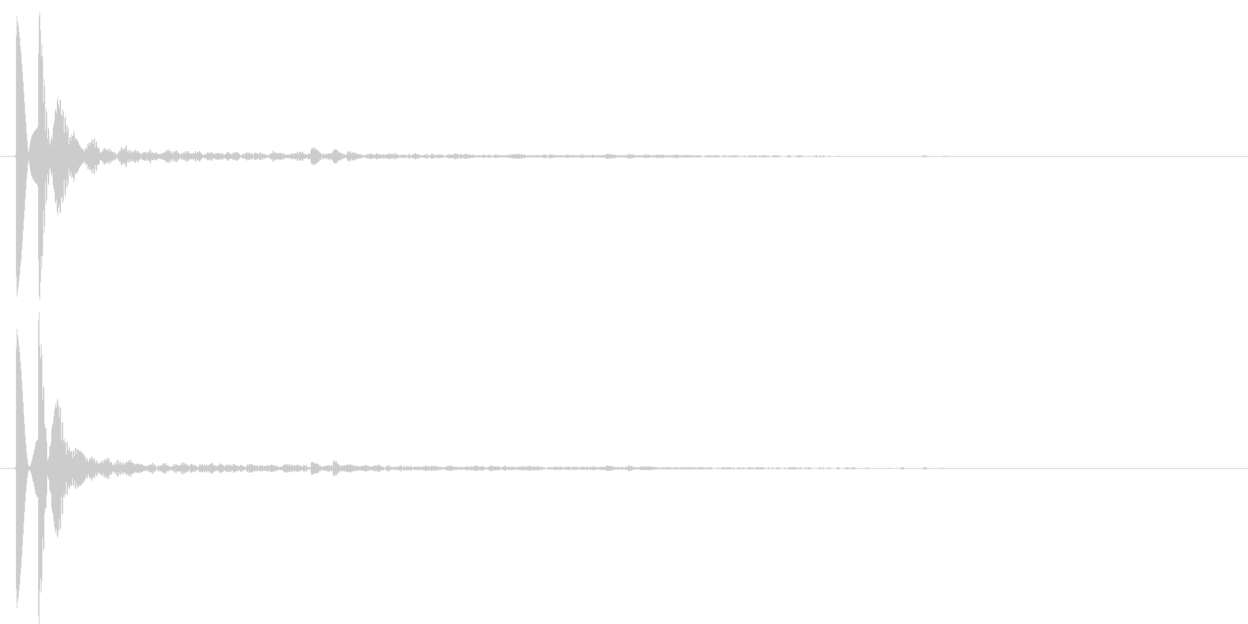 ソナーのような短信音のキャンセル音2の未再生の波形