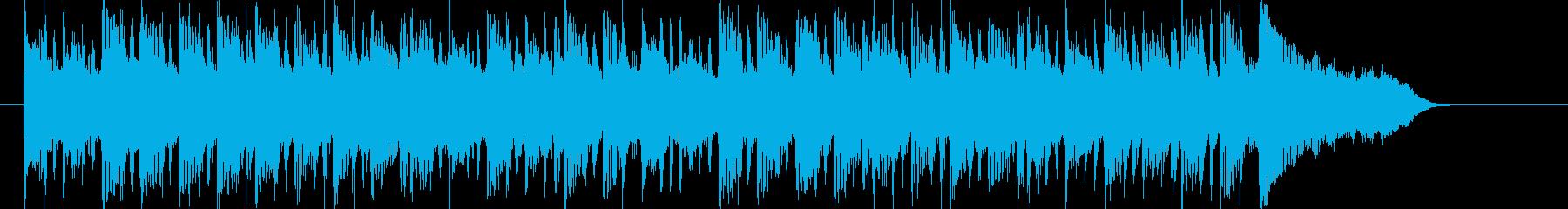 流れるような穏やかなポップスの再生済みの波形