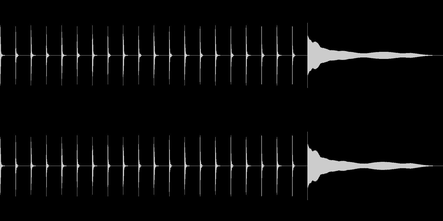 【効果音】シンキングタイム1の未再生の波形