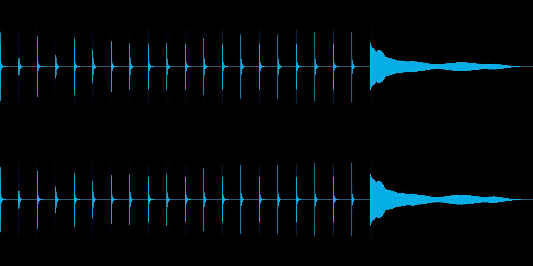 【効果音】シンキングタイム1の再生済みの波形
