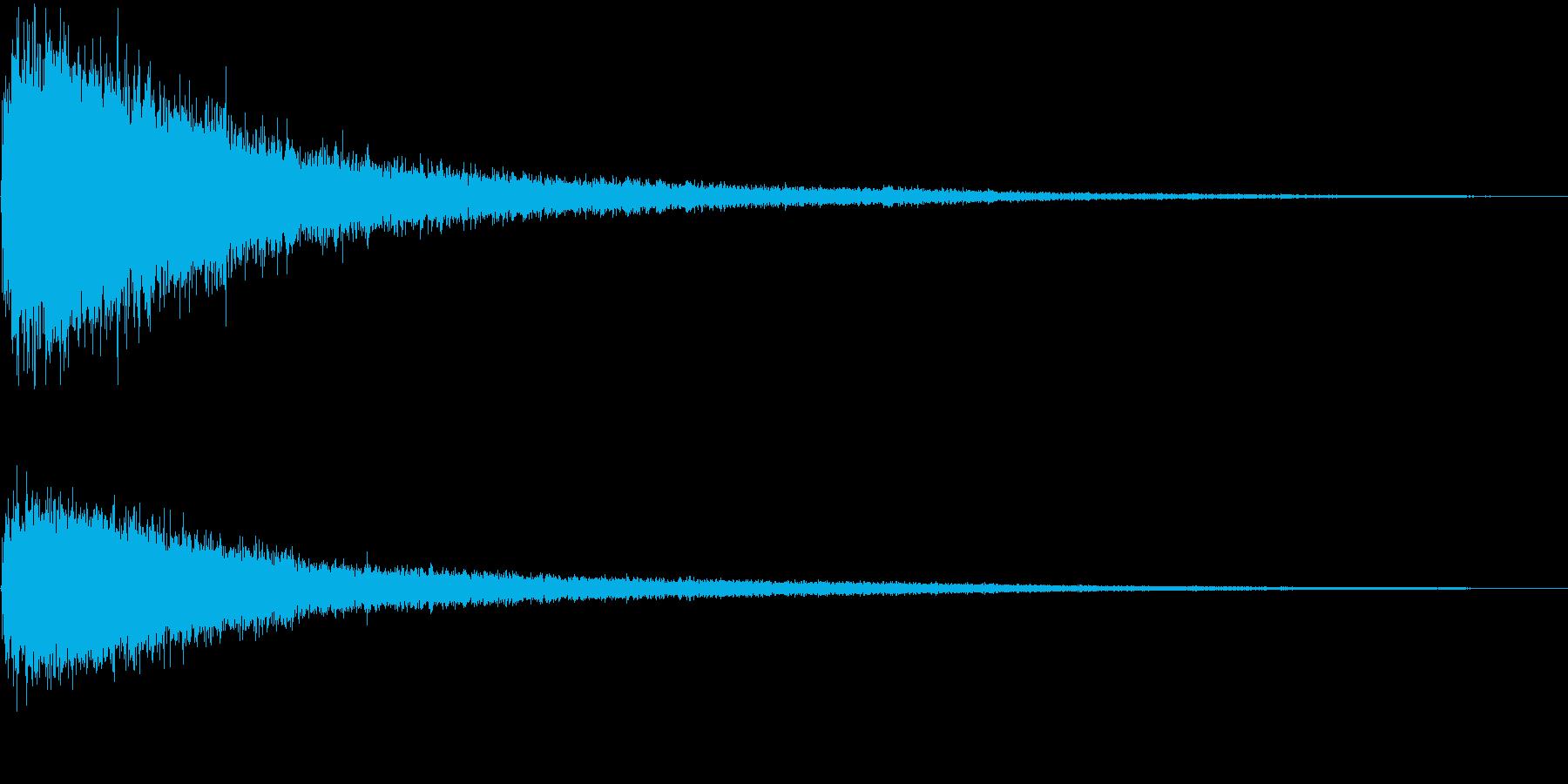 バァーン! 銅鑼の音の再生済みの波形