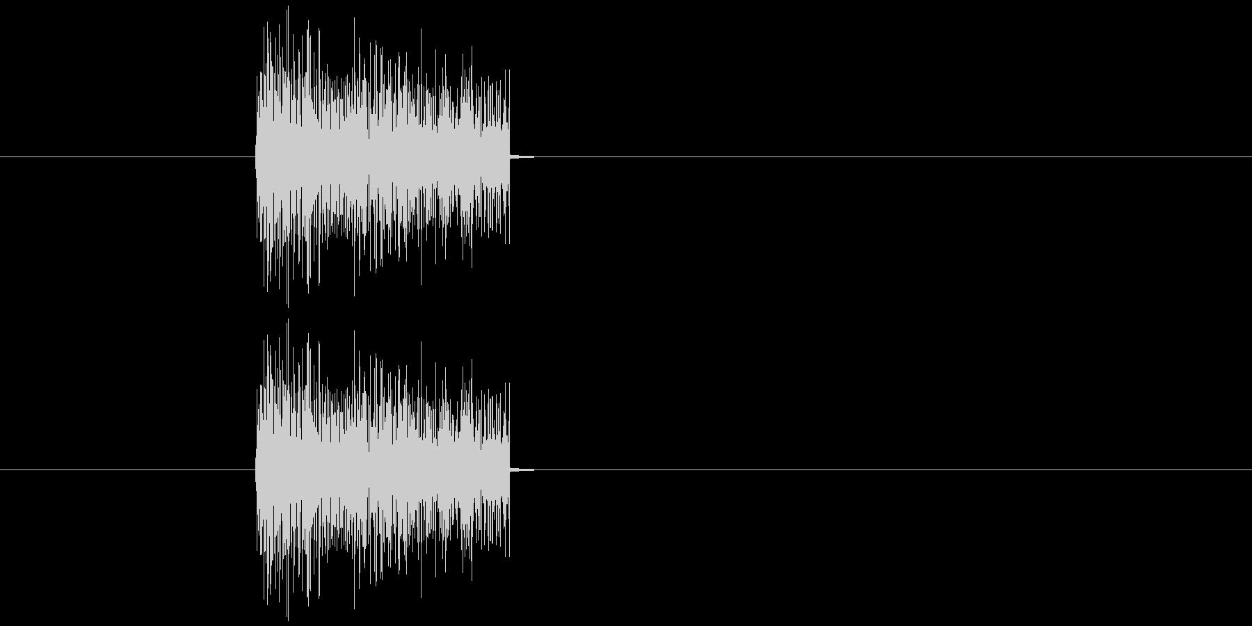 爆発音 昔のゲームの爆発音2の未再生の波形
