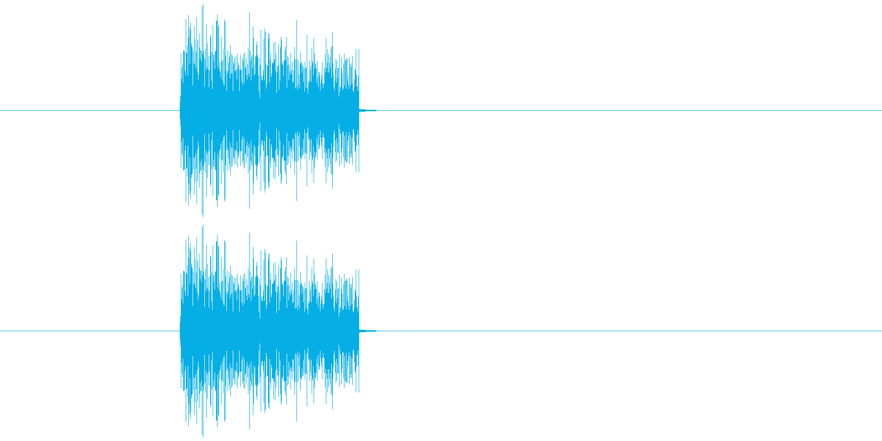 爆発音 昔のゲームの爆発音2の再生済みの波形