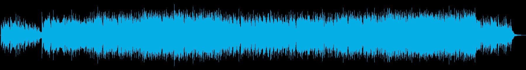 美しく綺麗なシンセサイザーサウンドの再生済みの波形