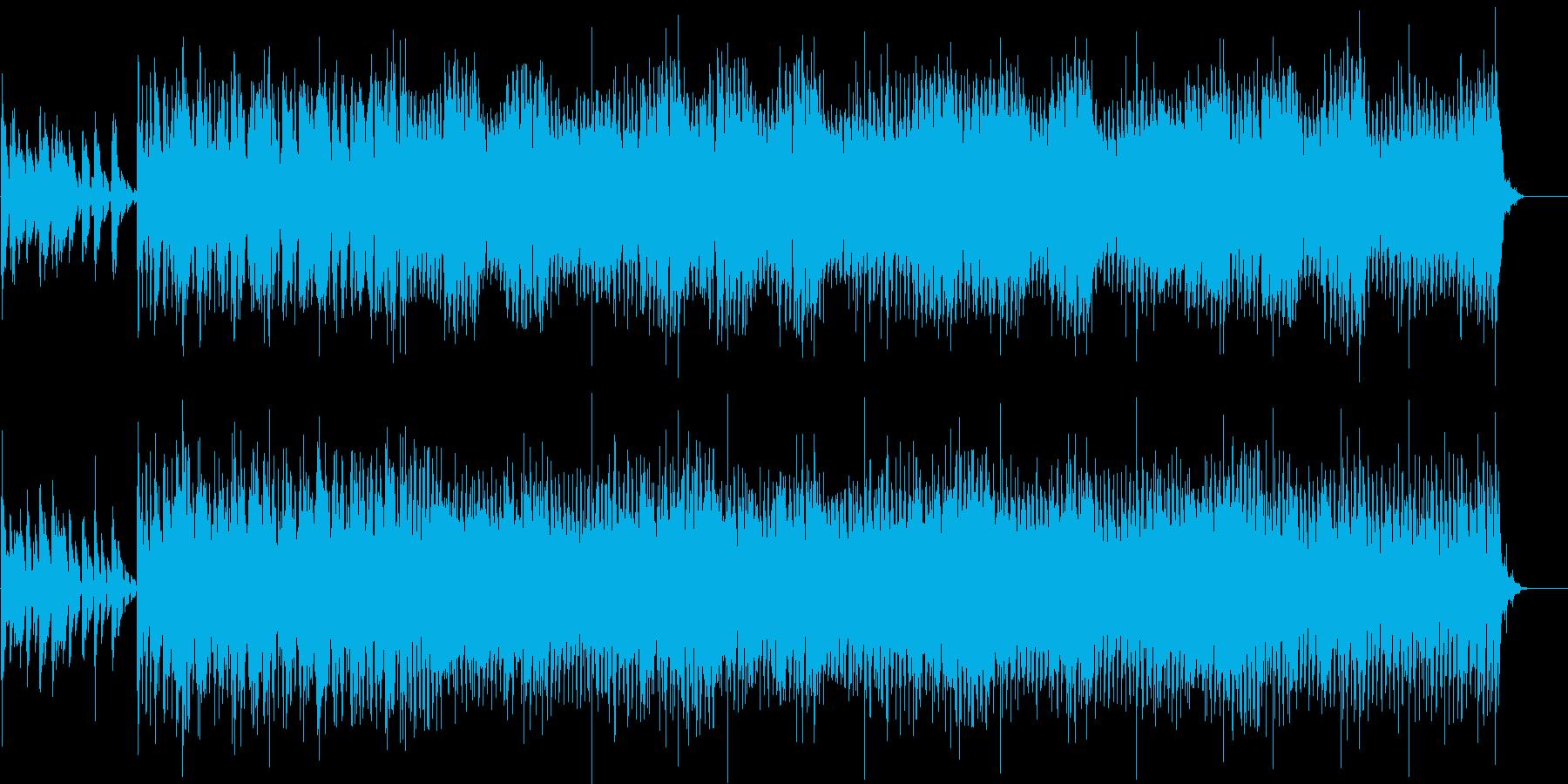 シャッフルで明るく揺れるようなBGMの再生済みの波形