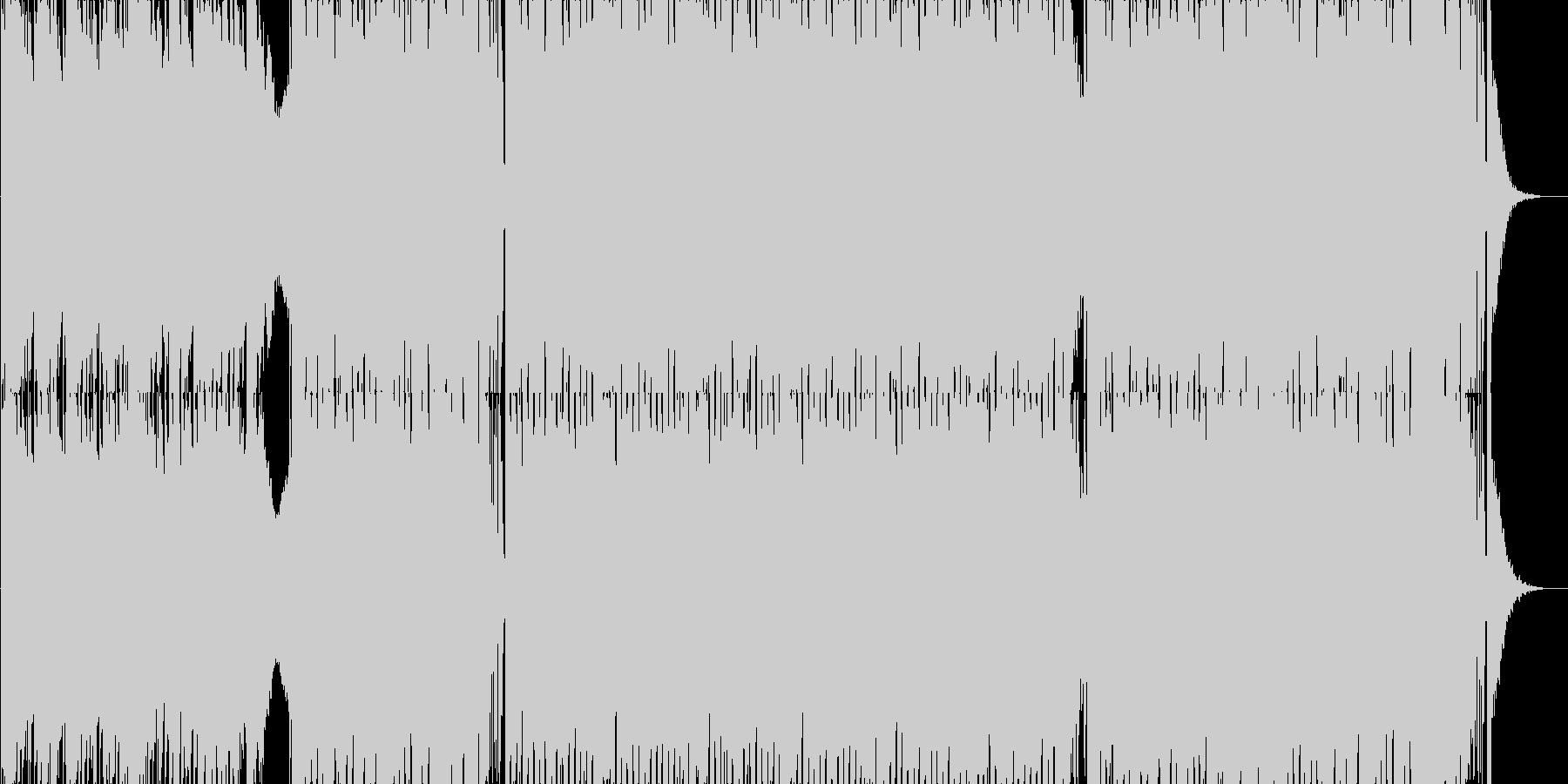 ピアノメインのダンスPOPの未再生の波形