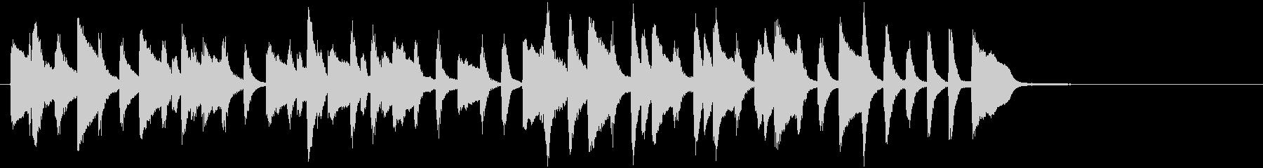 クラシックの小品のようなピアノソロの未再生の波形