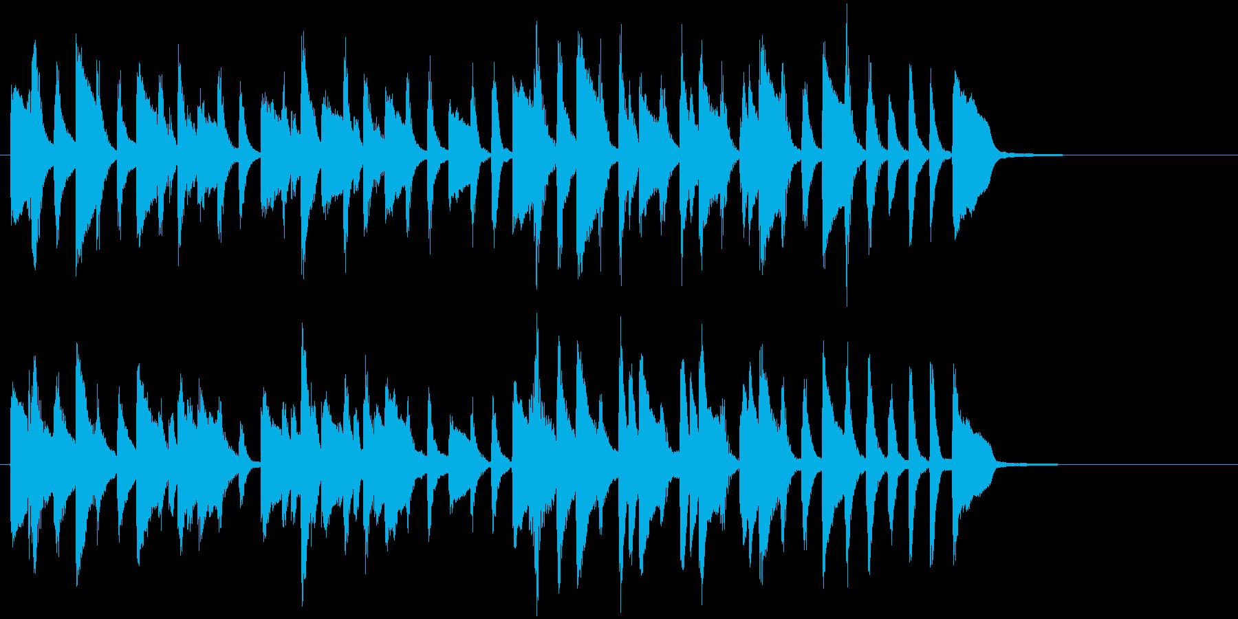 クラシックの小品のようなピアノソロの再生済みの波形
