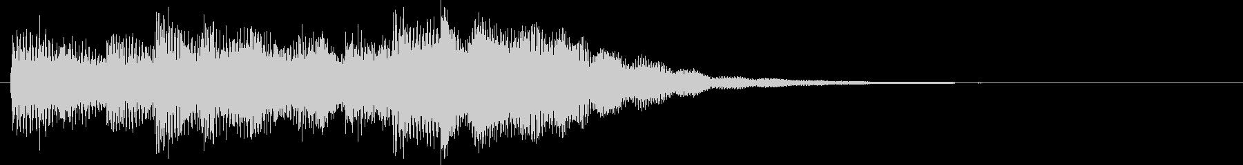 インフォメーションチャイム(にぎやか)の未再生の波形
