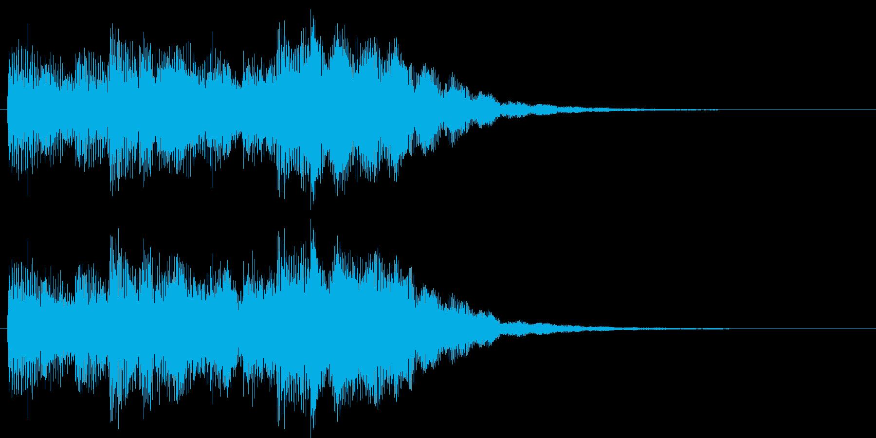 インフォメーションチャイム(にぎやか)の再生済みの波形