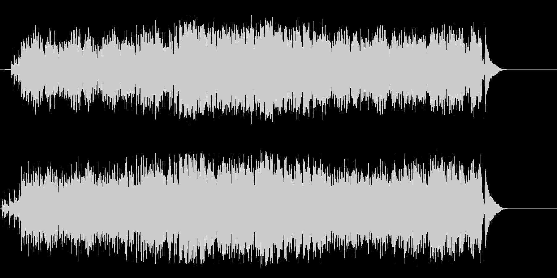 白銀のアルプスの爽やかなワールド音楽の未再生の波形