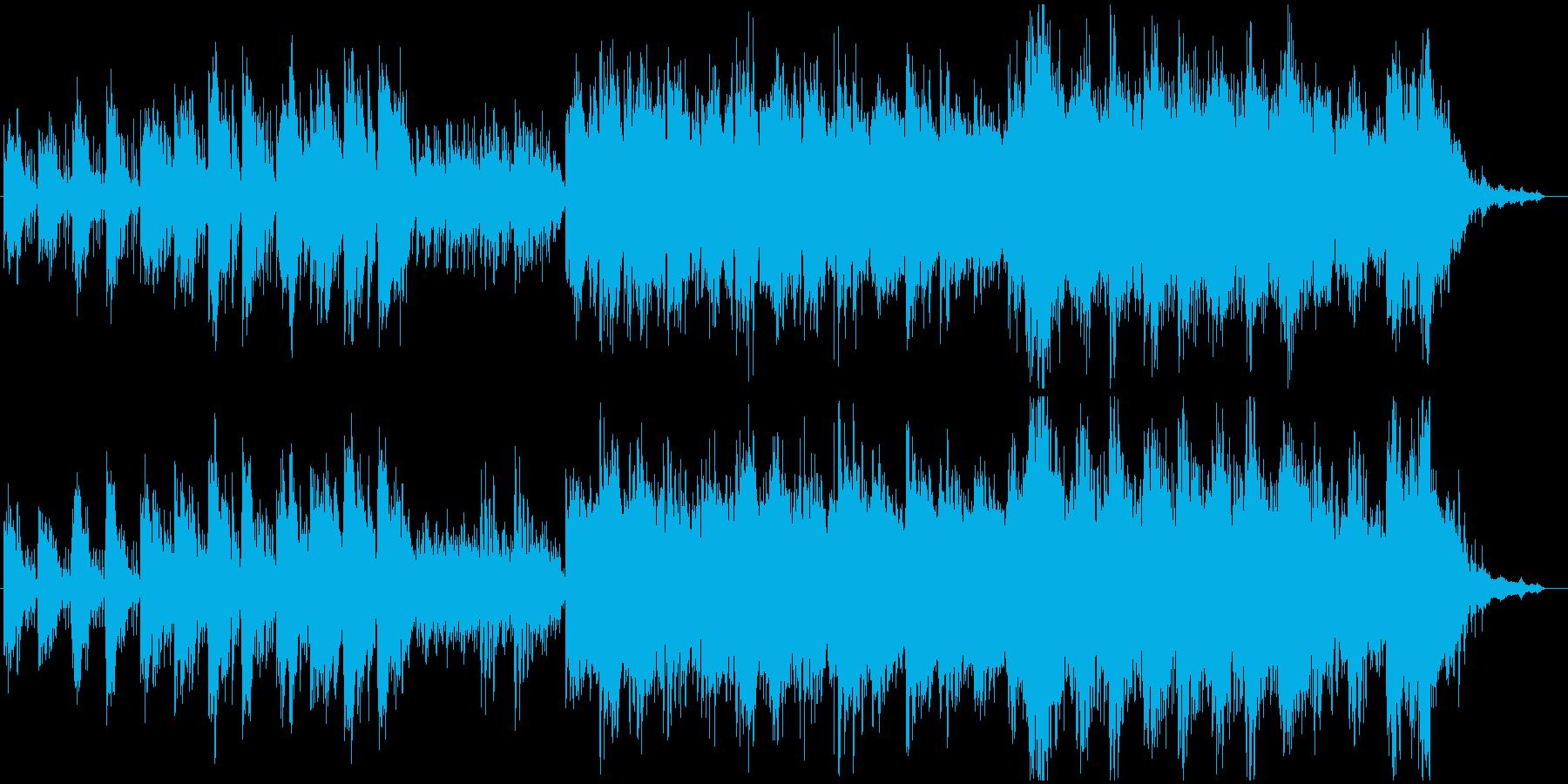山から海へ移動する様子を描いたBGMの再生済みの波形