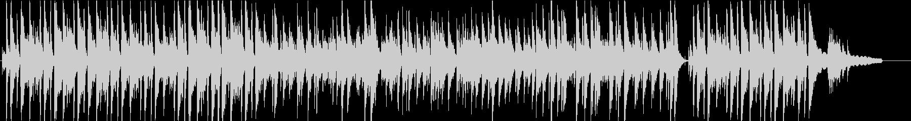 ピアノとビブラフォンによるボサノバ楽曲の未再生の波形