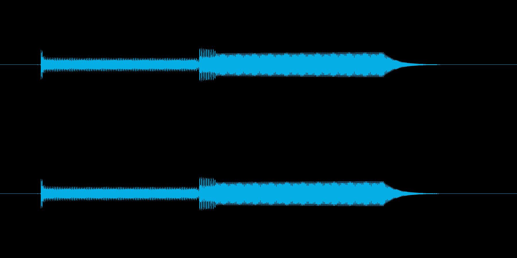 ピコ(電子音)の再生済みの波形