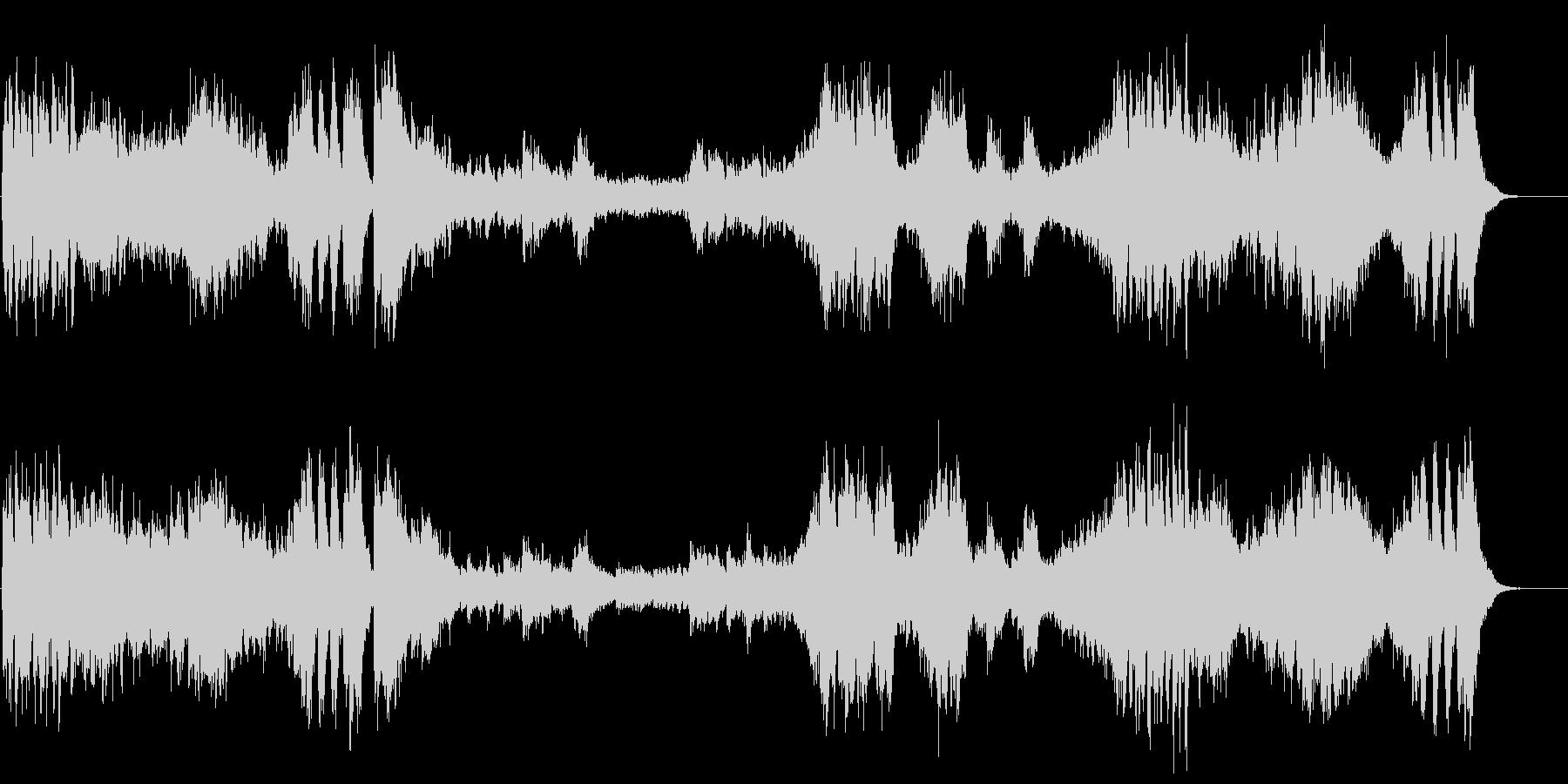 『高雅で感傷的なワルツ』第一楽章の未再生の波形