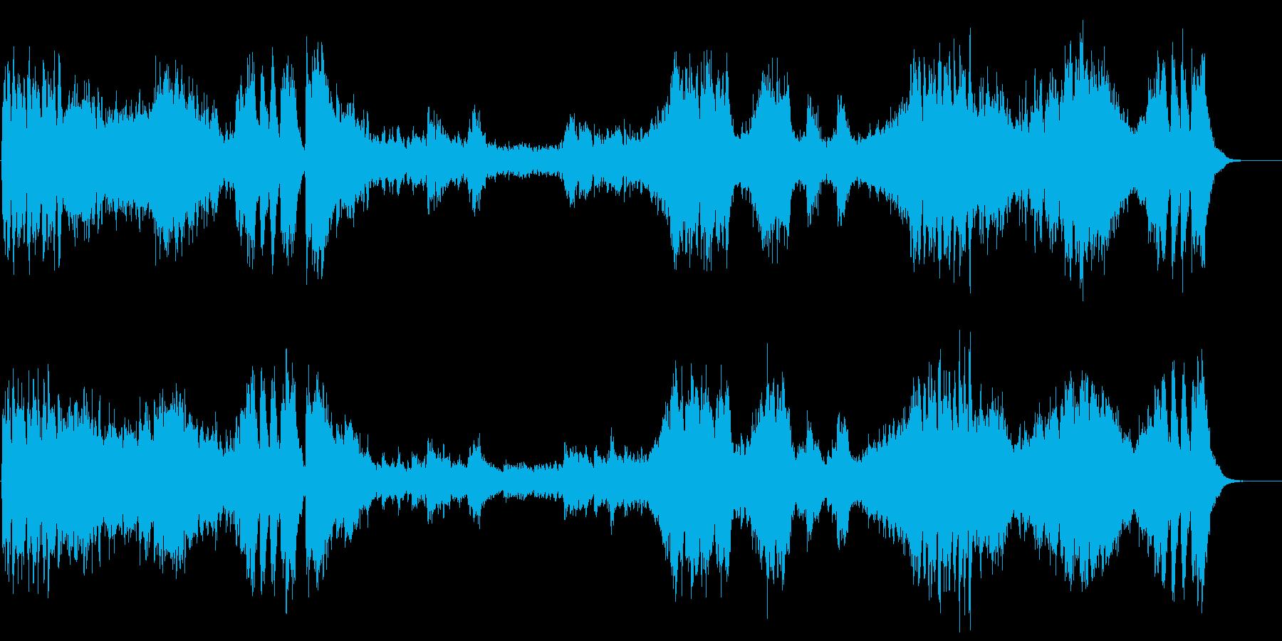 『高雅で感傷的なワルツ』第一楽章の再生済みの波形