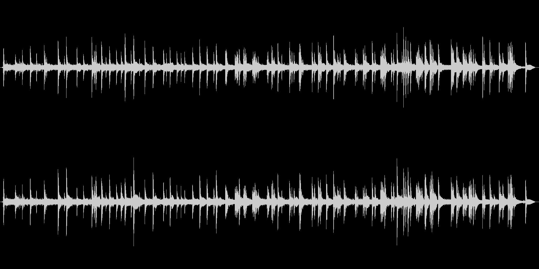 森の中で響く優しいピアノのBGMの未再生の波形