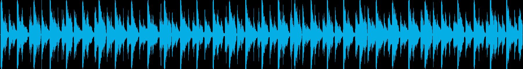 ハウス風のリズムを基調としたループ楽曲…の再生済みの波形