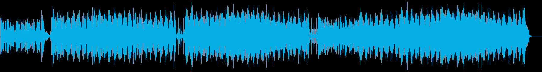 ピアノメインの切ない曲の再生済みの波形