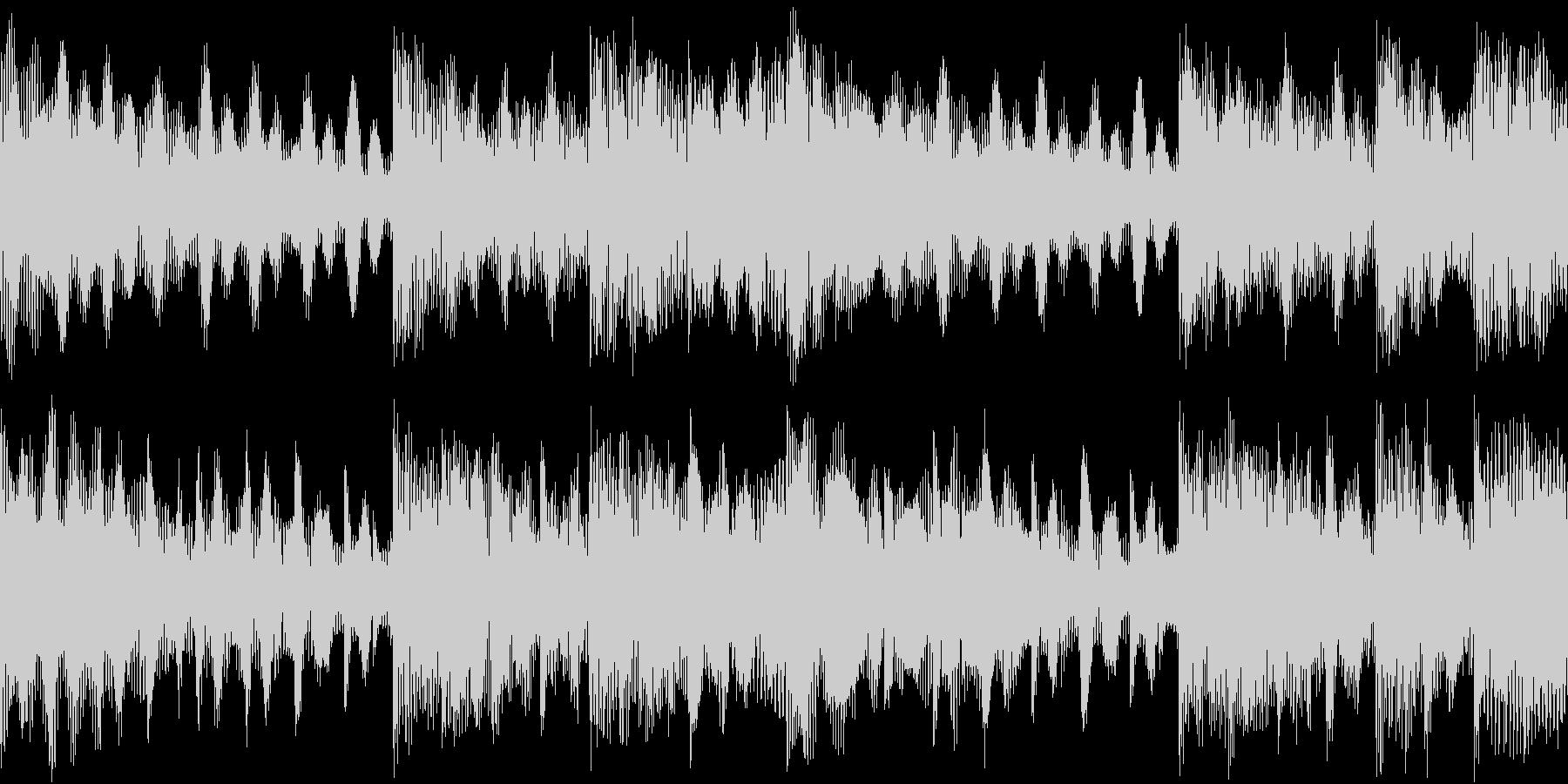 宇宙空間にいるようなBGM(ループ素材)の未再生の波形
