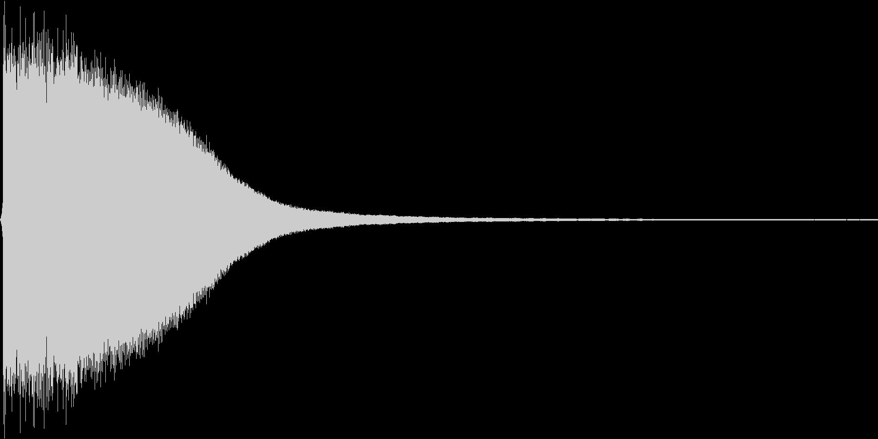 チーン。ご臨終・しらける音(低め)の未再生の波形