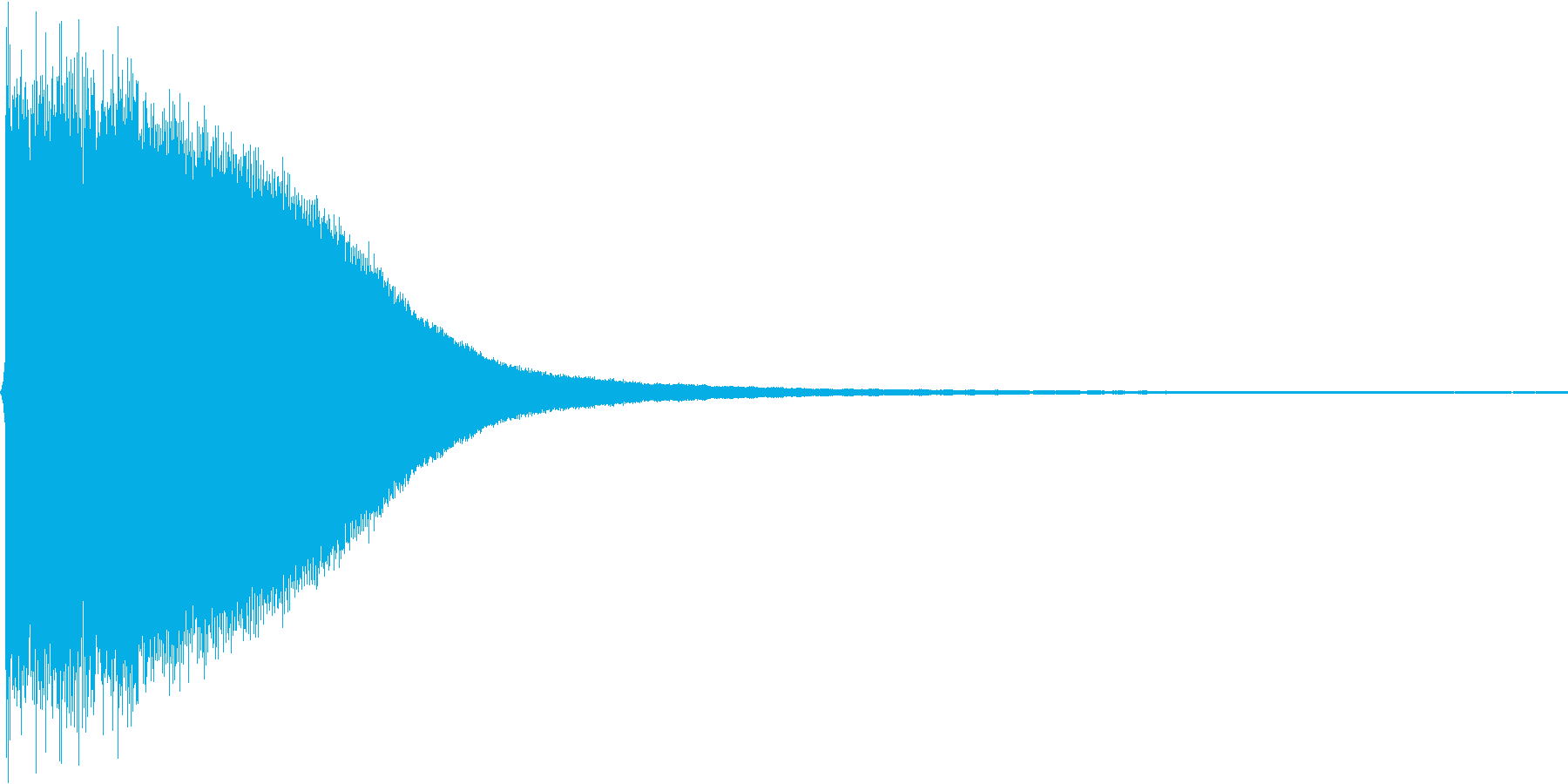 チーン。ご臨終・しらける音(低め)の再生済みの波形