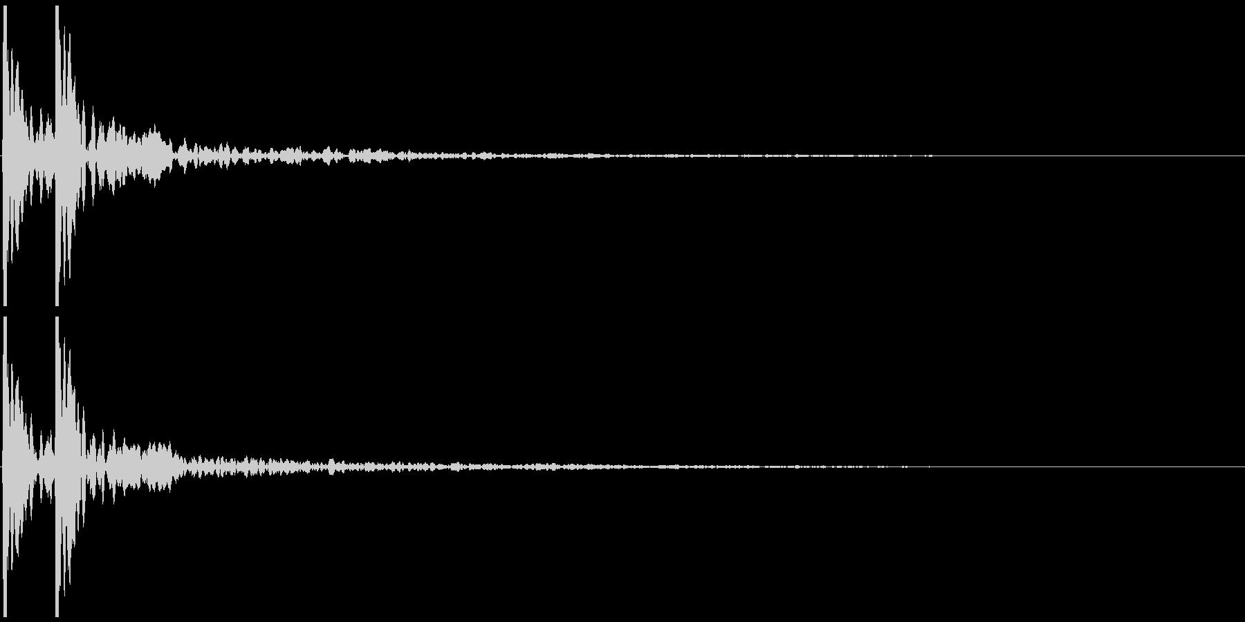 ポポン(小鼓の音) の未再生の波形