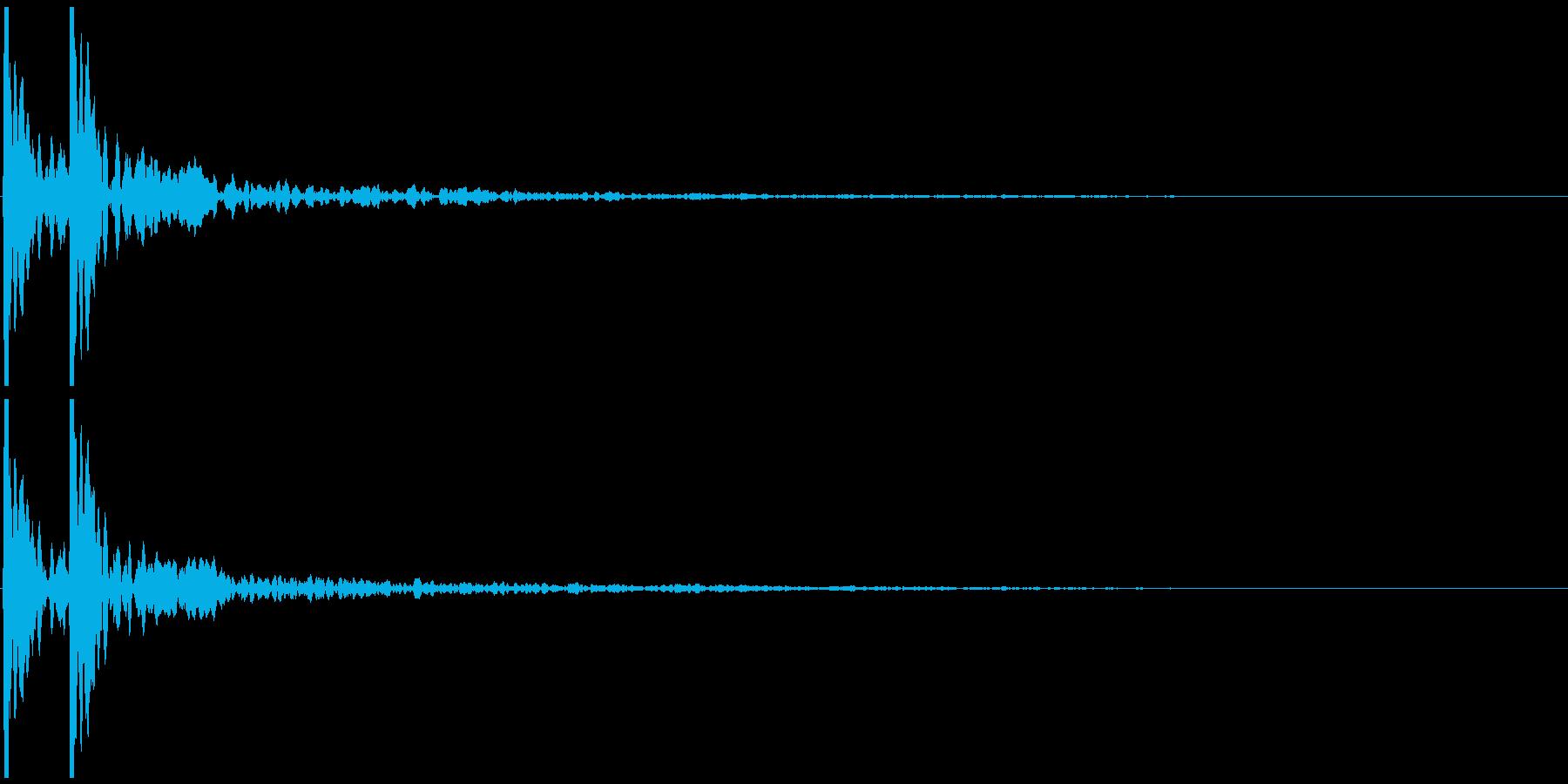 ポポン(小鼓の音) の再生済みの波形