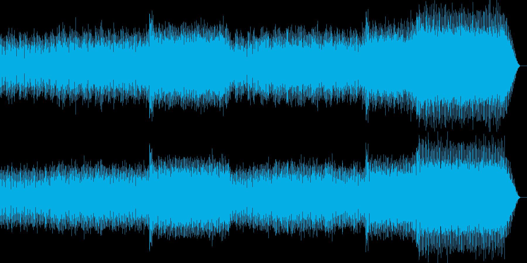 ノリの良い近未来的なdiscoトランスの再生済みの波形