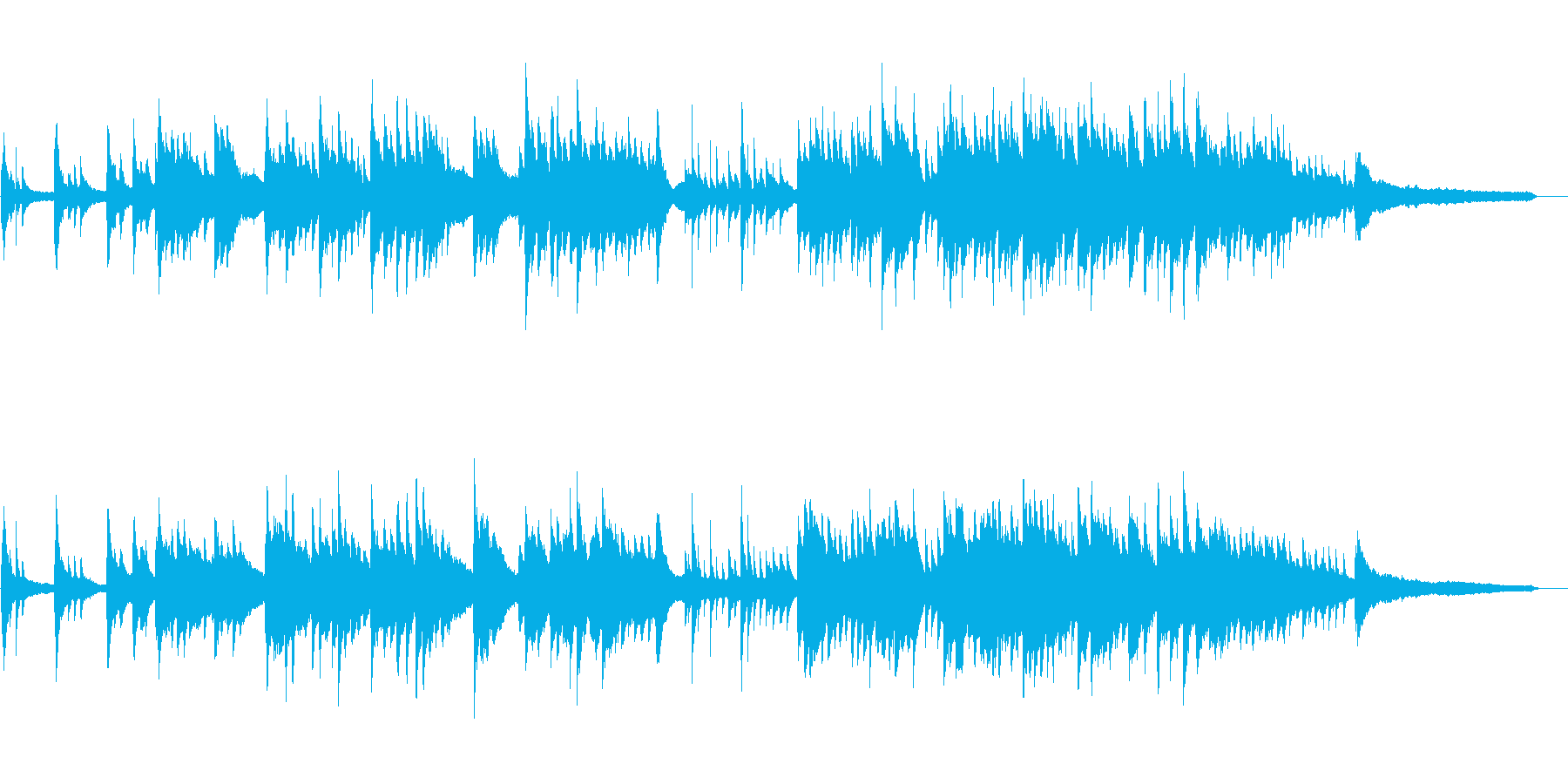 心温まる感動的なピアノソロの再生済みの波形