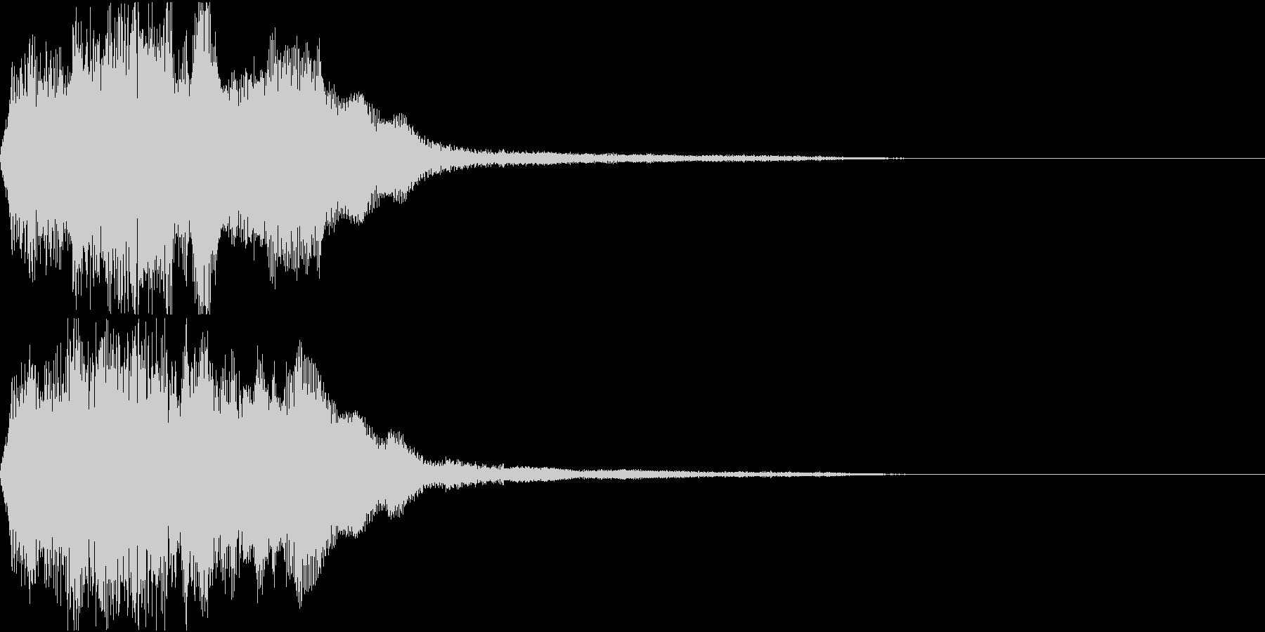 ラッパ ファンファーレ 定番 7 早いの未再生の波形