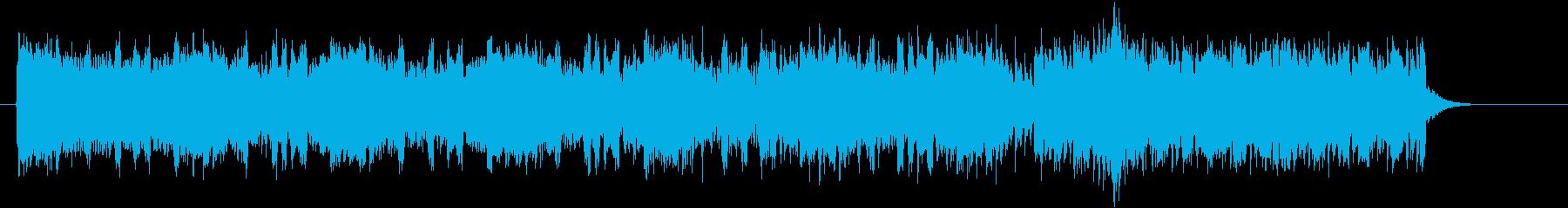 クールで盛り上がるEDMのジングルの再生済みの波形