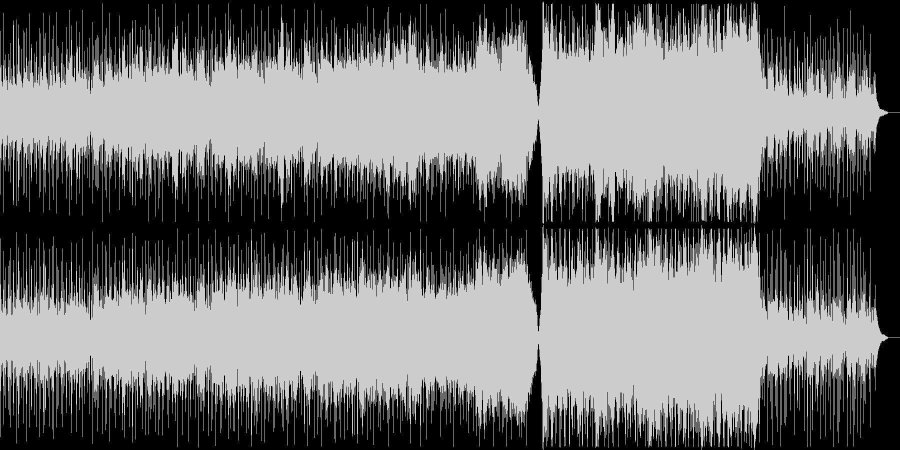 プラネタリウム、星空をイメージした曲の未再生の波形
