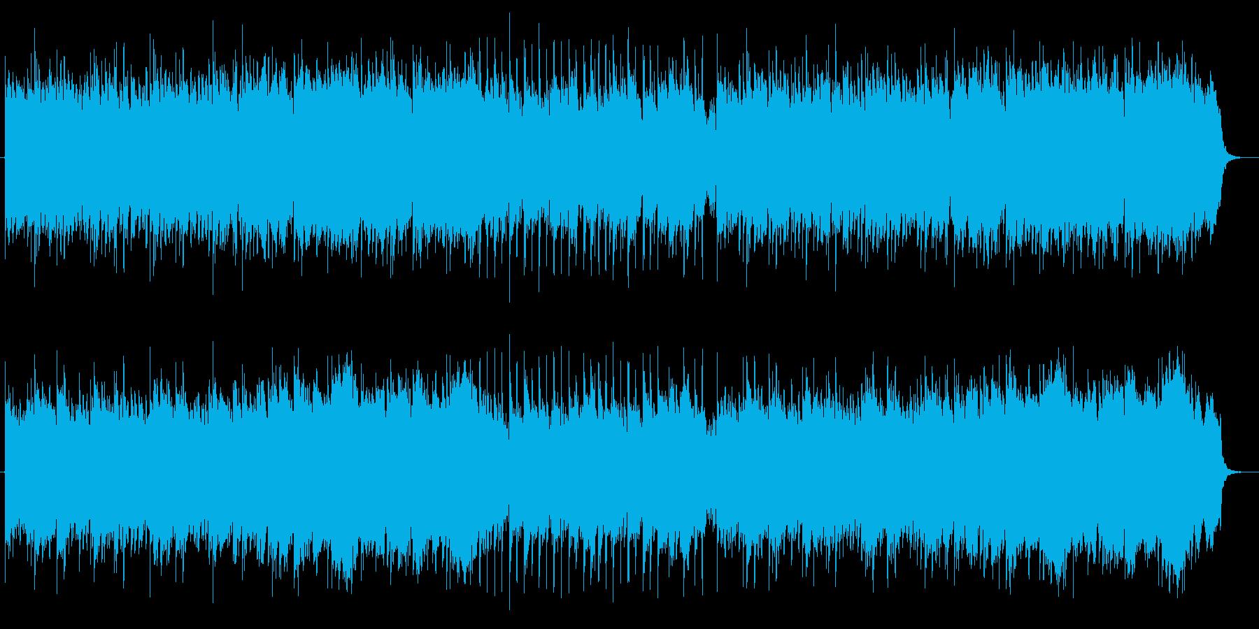 雄大で重みがあるミュージックの再生済みの波形