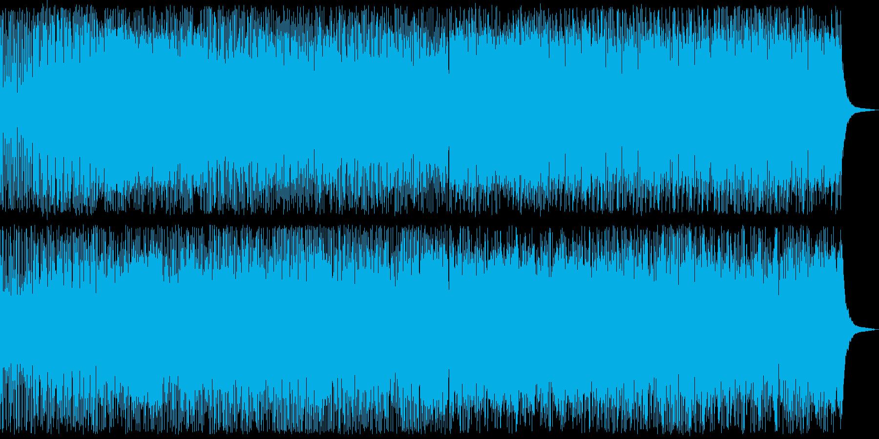 透明感のあるピアノとオーケストラの曲の再生済みの波形