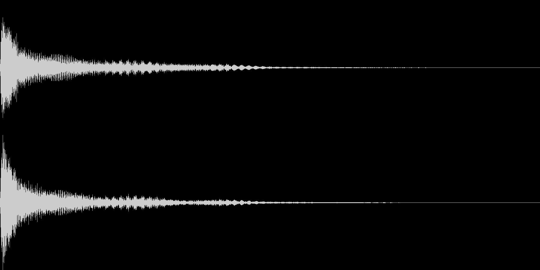 恐怖音02(ドキッ)の未再生の波形