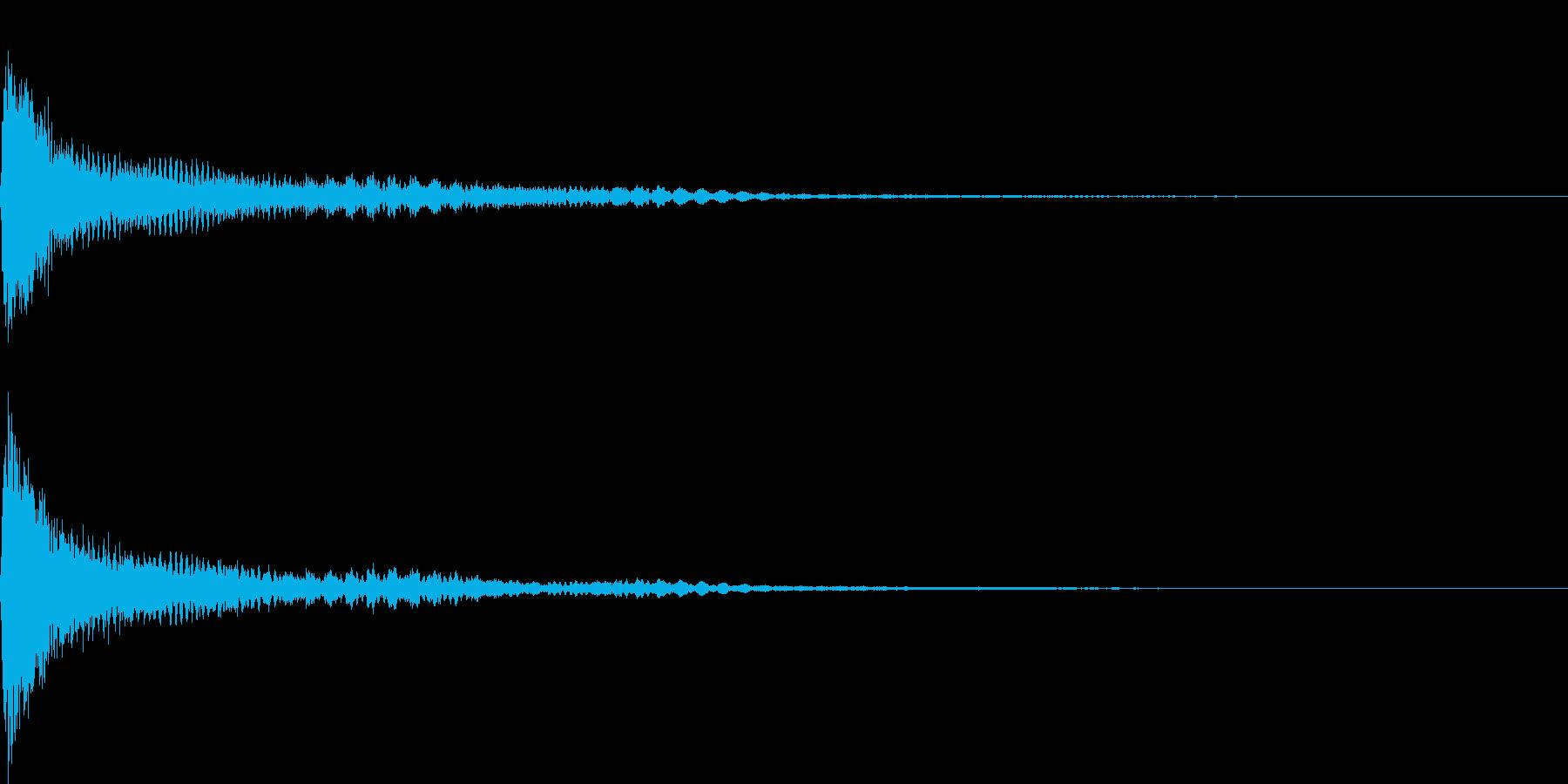 恐怖音02(ドキッ)の再生済みの波形