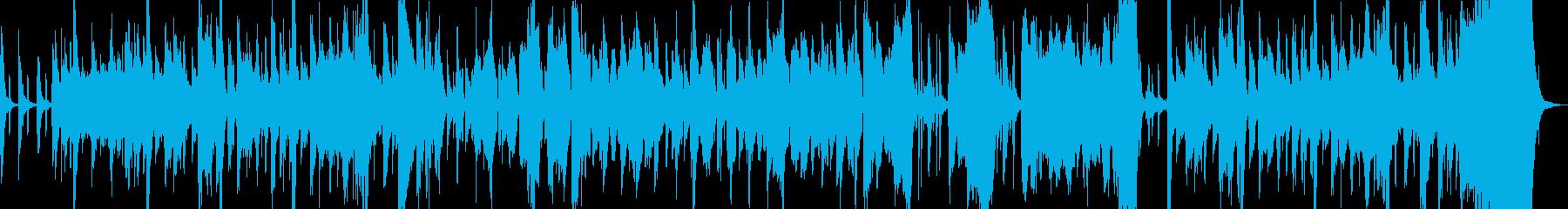 ピンクパンサーの様な世界観の曲の再生済みの波形